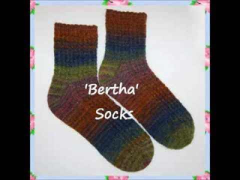 Bertha Ladies Twisted Ribbed Socks Knitting Pattern on Double Pointed Needles...