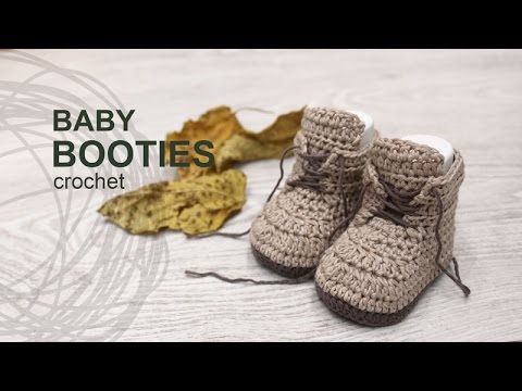Crochet Tutorials On Youtube : Tutorial Baby Booties Crochet in English - YouTube