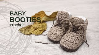 Tutorial Baby Booties Crochet in English