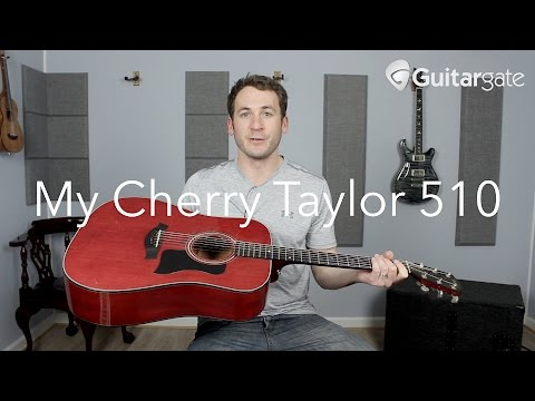 My Cherry Taylor 510 Acoustic Guitar