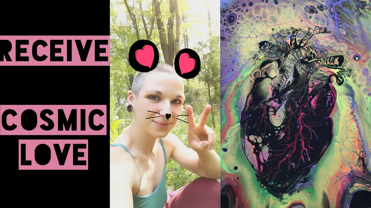 Cosmic Flow Art, Wu Wei & Signs the Universe LOVES You #loveisachoice #cosmicflipcup #acrylicpouring
