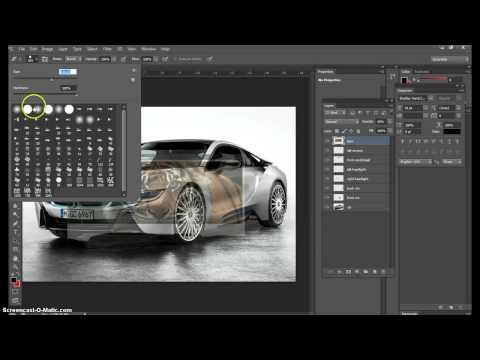 Photoshop Car Design | Step 6 | Add Graphics to an image | Transparencies | Eraser Tool