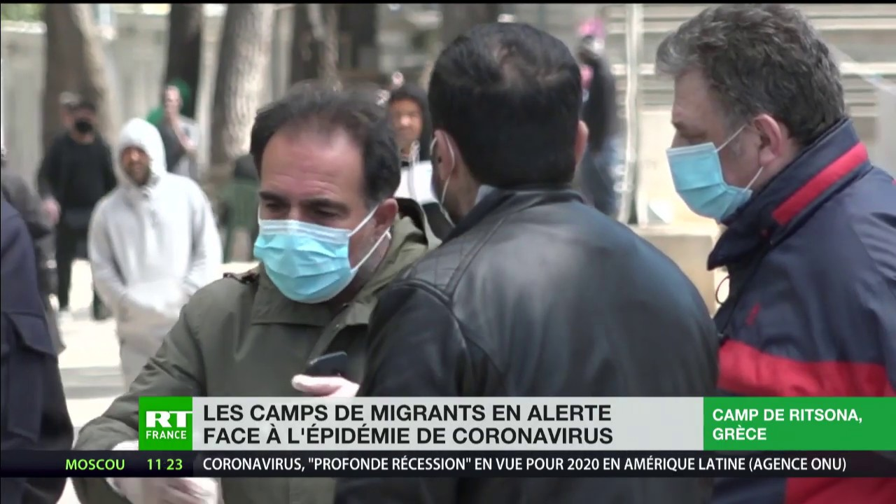 En Grèce, les camps de migrants en alerte face à l'épidémie de coronavirus