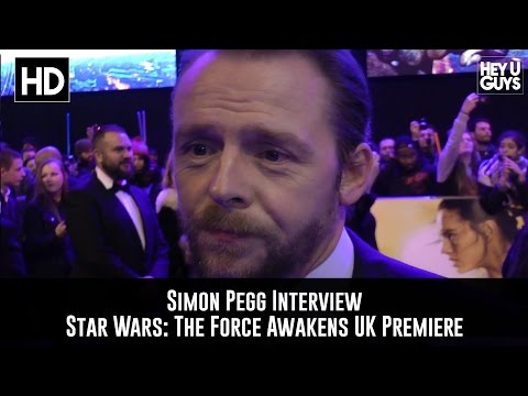 Simon Pegg Premiere Interview: Star Wars - The Force Awakens