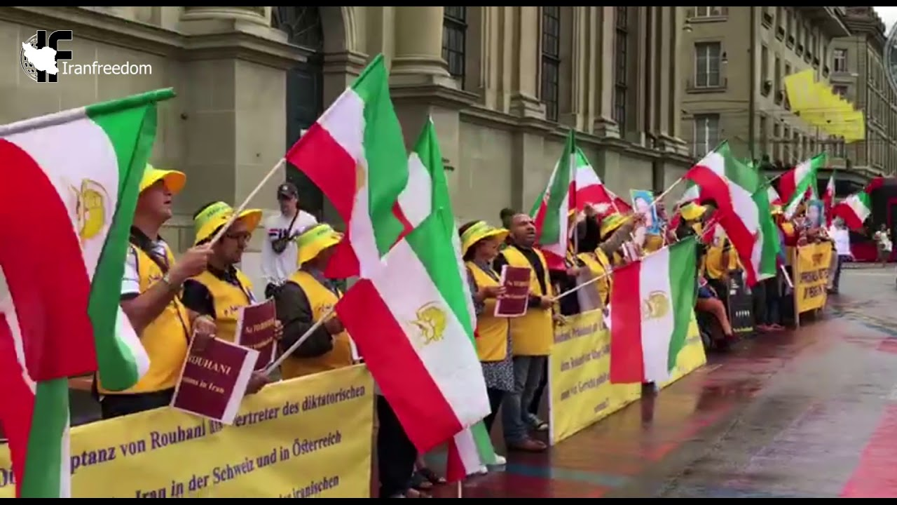 Exiled Iranians protest against Rouhani's trip to Switzerland-2