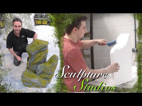 Mossy Polystyrene / Styrofoam Rocks by Sculpture Studios