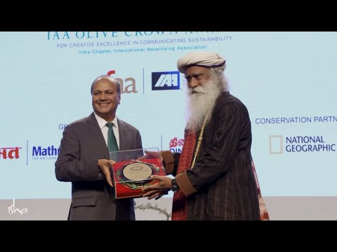 Isha Foundation Receives Olive Crown Green Crusader Award for Rally For Rivers | Sadhguru