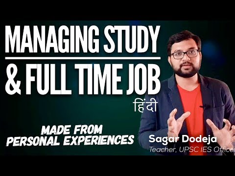 How to Study SMARTLY along with  Work/Job for Competitive exams | UPSC CSE IAS SSC CGL GATE