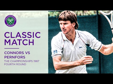 Jimmy Connors Vs Mikael Pernfors Wimbledon Rd.16 1987