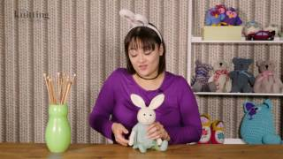 Bunny Rabbit Girl Toy Knitting Pattern (The Knitting Network WTD060)