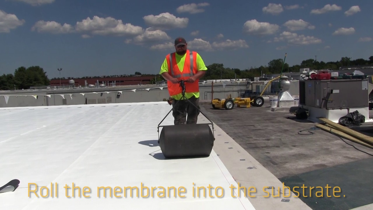 The Roofing Industry S First Self Adhering Pvc Membrane
