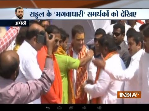 Rahul Gandhi reaches Amethi, offers prayer to Lord Shiva