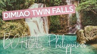 dimiao twin falls bohol philippines pahangug falls
