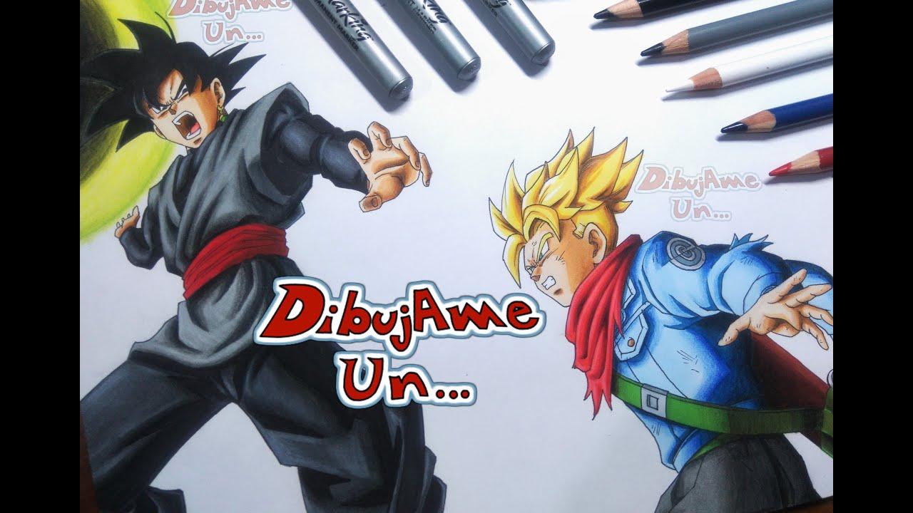 Goku Black Ssj Rose Para Colorear: Como Dibujar A BLACK/GOKU BLACK Vs TRUNKS Del Futuro. How