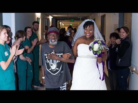 Thumbnail: Dying Dad Walks Bride Down the Aisle in Surprise Hospital Wedding