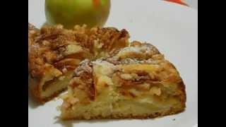 Яблочный пирог с орехами. Рецепт