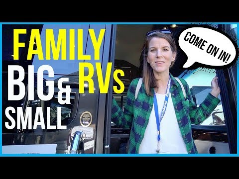 TOUR 4 MOTORHOMES FOR FAMILY TRAVEL // 2018 Florida RV Supershow