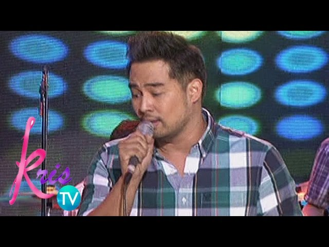 "Kris TV: Jed Madela sings ""We Belong Together"""