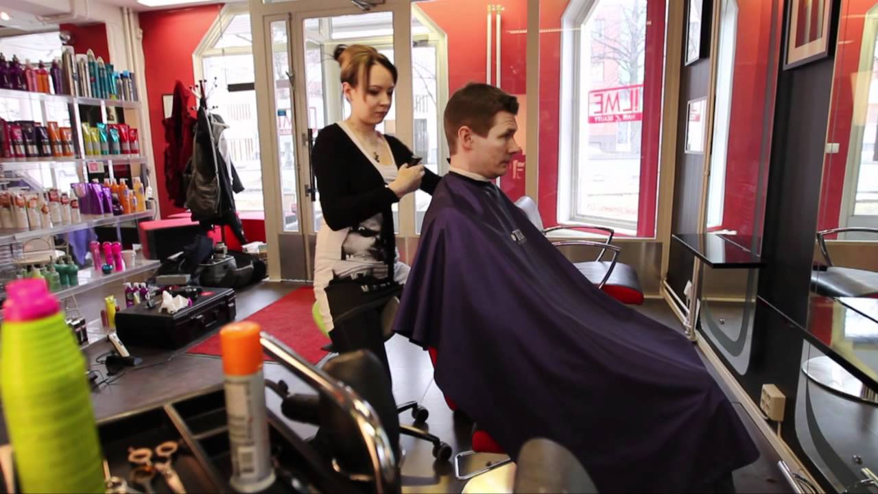 salli saddle chair la z boy desk in beauty, hairdresser - youtube