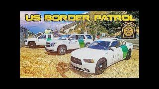 GTA 5 LSPDFR 0.3.1 - US Border Patrol CheckPoint Drug Runners!