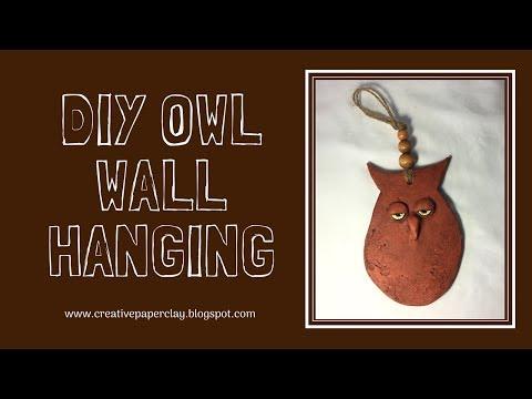 DIY Owl Wall Hanging