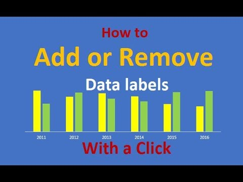 how to add data labels in excel