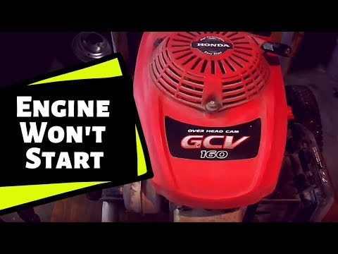Honda GCV 160 Pressure Washer: Power Washer Won't Start