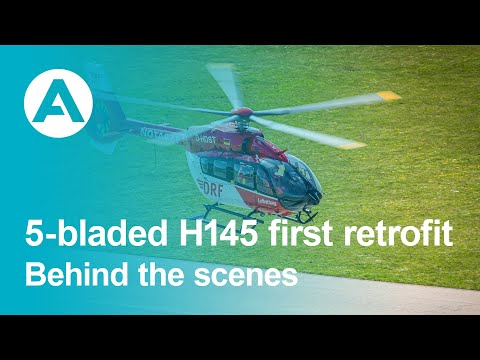 Behind the scenes of the H145 first retrofit