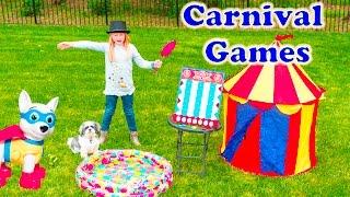 ASSISTANT CARNIVAL GAMES Surprise Video Paw Patrol + Blaze + Lion Guard + Zootopia Toys Games Video