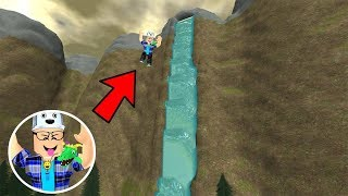 ROBLOX: I JUMPED IN THE BIGGEST WATERFALL IN THE WORLD AND LOOK WHAT I FOUND! -Play Old man