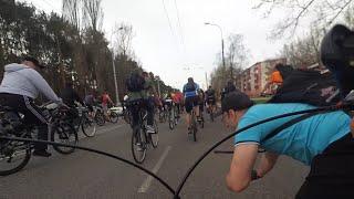 Легкий завал на открытии велосезона в Гомеле 2016