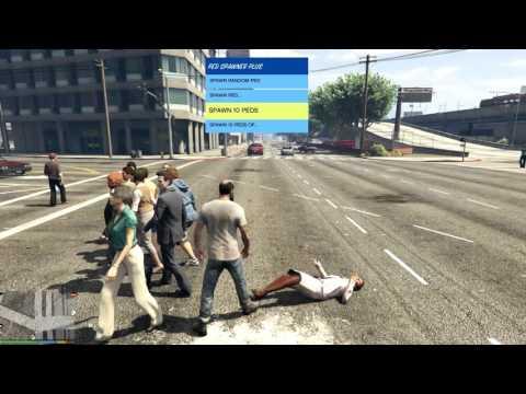GTA 5 PC MODS - PED SPAWNER - YouTube