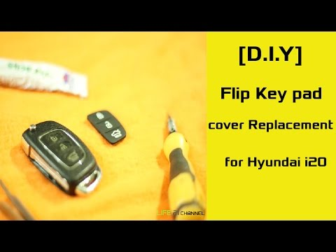 [D.I.Y] Flip Key pad cover Replacement for Hyundai i20