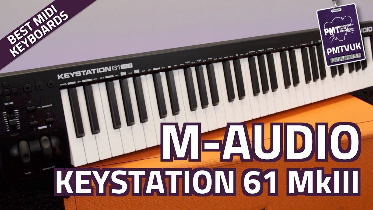 m audio keystation 61 mkiii midi controller keyboard overview features youtube. Black Bedroom Furniture Sets. Home Design Ideas