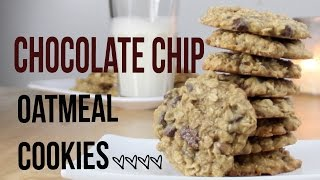 CHEWY Chocolate Chip Oatmeal Cookie Recipe!!