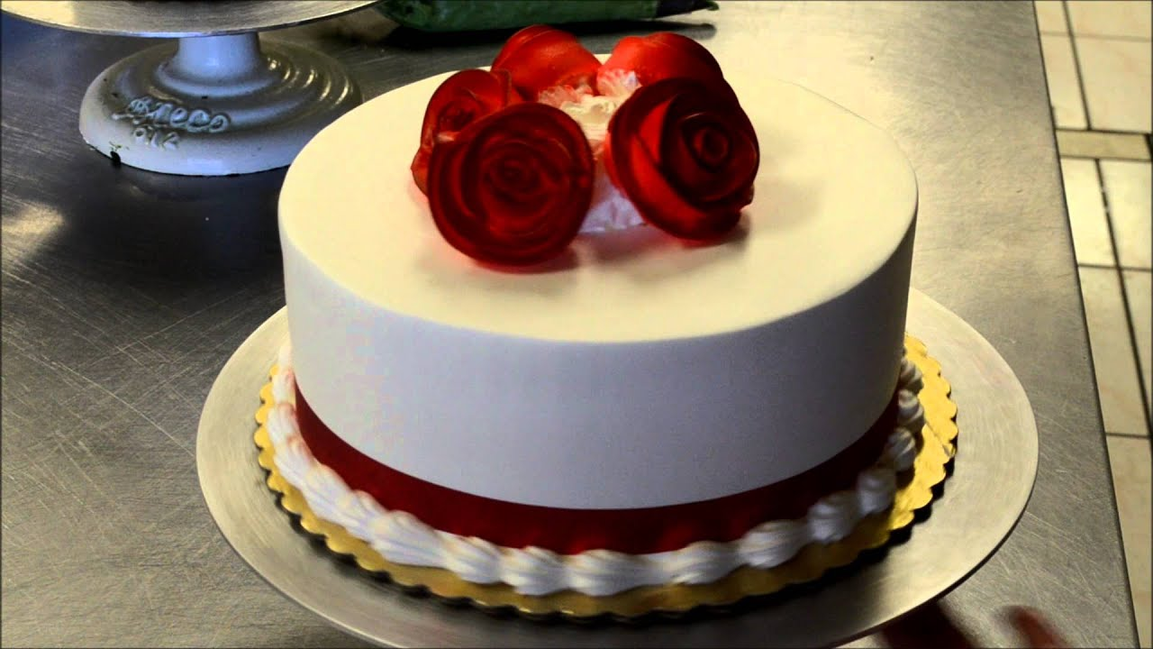 Simple Flower Happy Birthday Cake