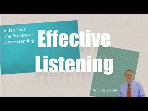 How to Listen Better - The Process of Understanding