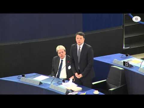 Matteo Renzi Omaggio a Napolitano in Europa - Semestre Europeo