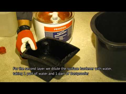 How to make a concrete floor dustproof