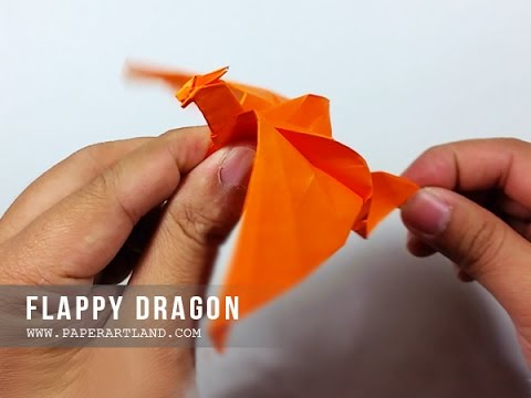 How To Make A Paper Flapping Dragon Origami Batiendo Dragn Easy