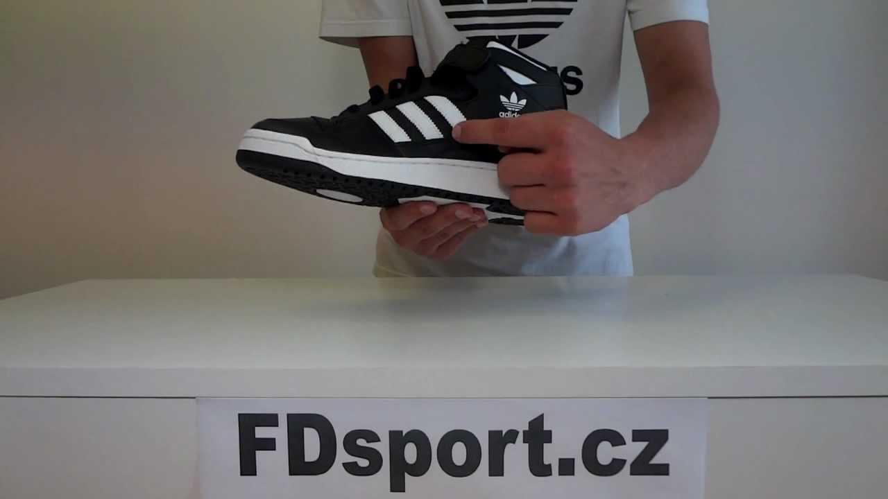 5f3af10660de Pánské kotníkové boty adidas Originals FORUM MID - černé - YouTube