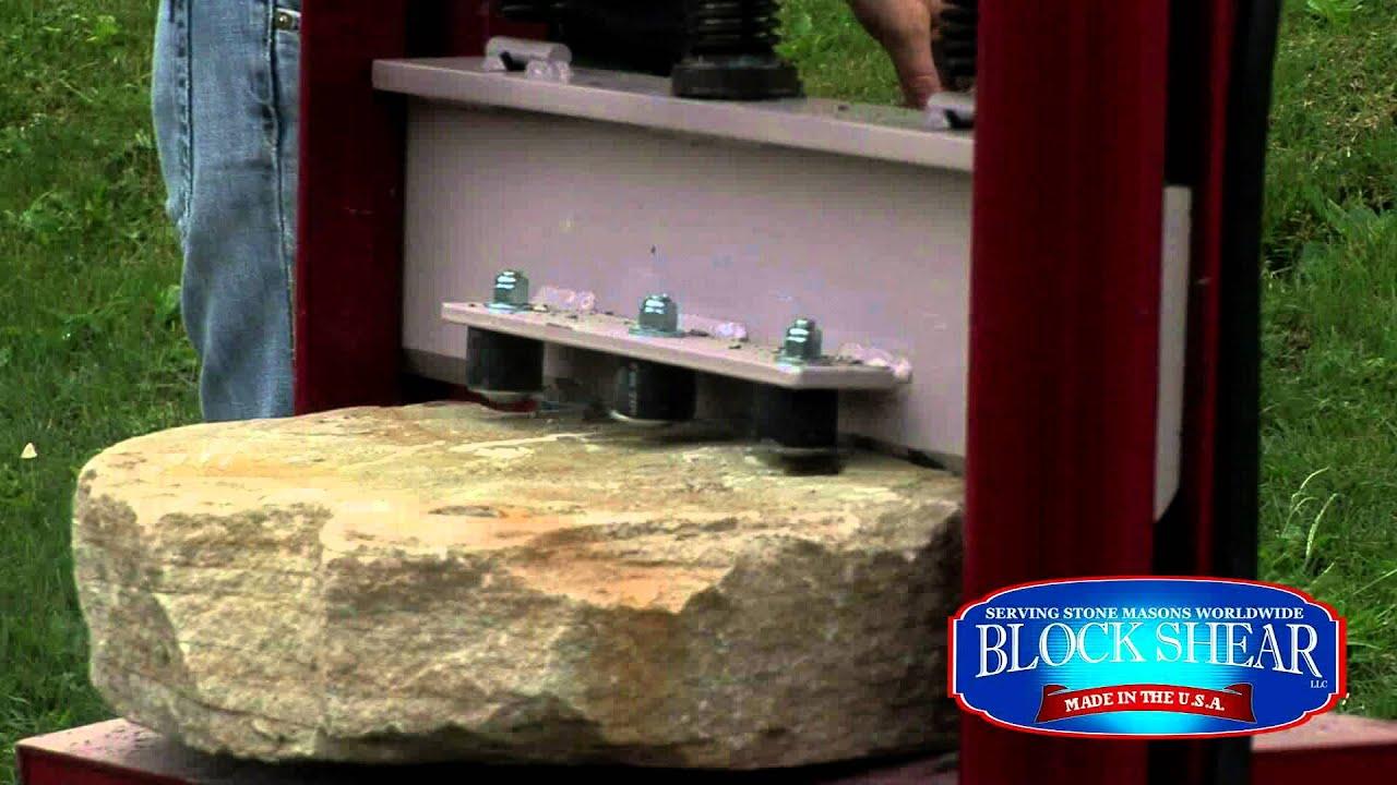 Blockshear Stone Splitter Stone Mason Products Youtube