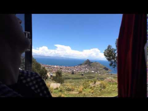 Taking the Bus from Copacabana to La Paz, Bolivia