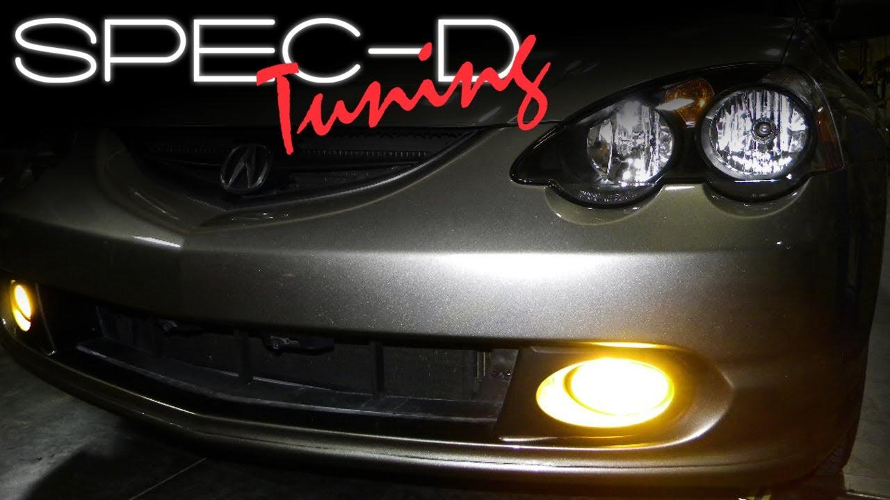 specdtuning installation video: 2002 - 2004 acura rsx fog lights - youtube