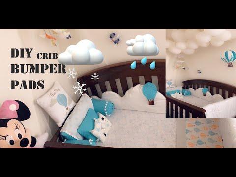 How To Make Baby Crib Bumper Pads, DIY Crib Decor