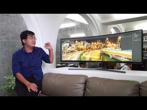 """Trên tay màn hình Samsung QLED 49"""" cho game thủ"""