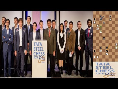 Tata Steel 2018   Round 1   Anand–Matlakov, Kramink–Yi, Giri–Yifan