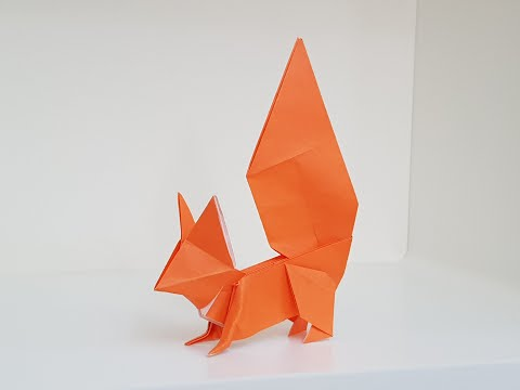Origami Squirrel 🐿️ Time-lapse.