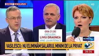 Lia Olguța Vasilescu, despre renunțarea la salariul minim pe economie în mediul privat