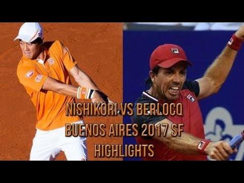 Kei Nishikori Vs Carlos Berlocq - Buenos Aires 2017 SF (Highlights HD)